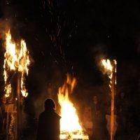 Bei der Flammenfeier